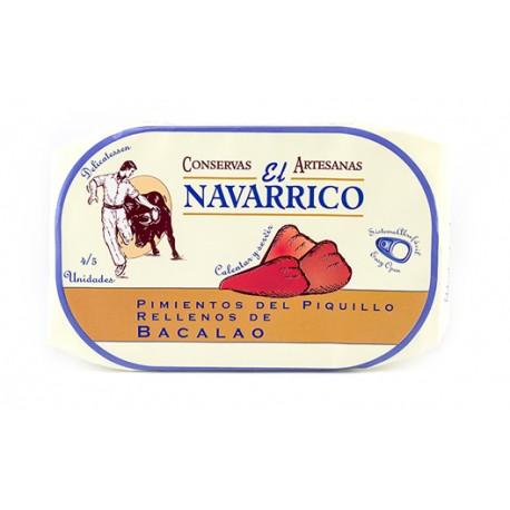 """Pimientos del Piquillo Rellenos de Bacalao """"El Navarrico"""" 5 Unidades"""