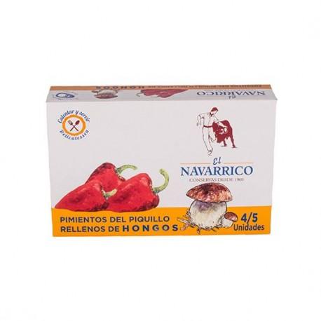 """Pimientos del Piquillo Rellenos de Hongos """"El Navarrico"""" 270 ml"""