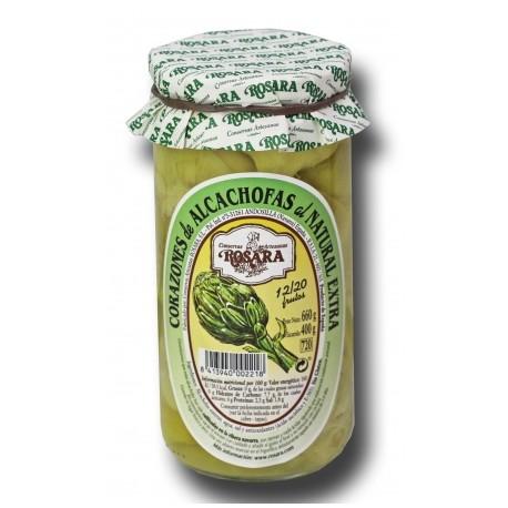 Corazones de alcachofa Rosara 660 grs