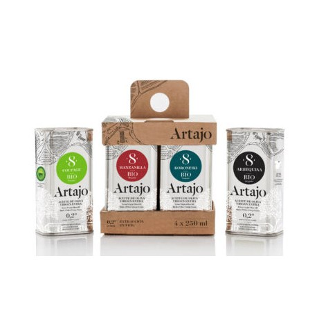 Pack 4 aceites de Oliva Virgen Extra Artajo Bio