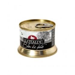 Bloc de foie gras de pato 130 gr, 98% de foie de Katealde