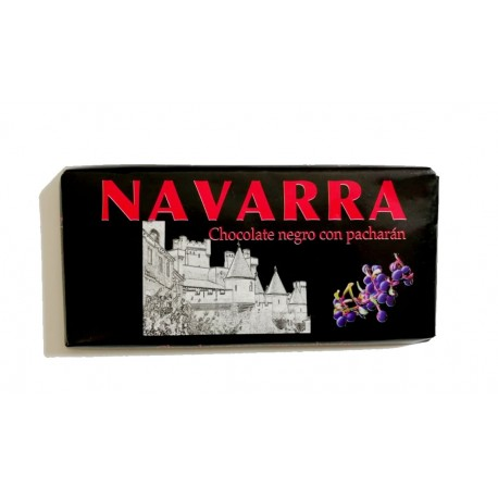 Tableta chocolate negro con pacharán Navarra