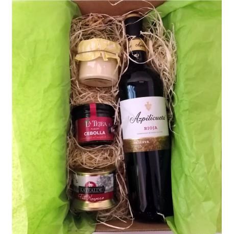 Estuche Regalo Vinos y Delicatessen Reserva Rioja