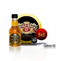 Botellita Miniatura Whisky Chivas 12 Años 5 Cl