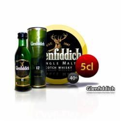 Botellita Miniatura Whisky Glenfiddich 12 Años 5 Cl