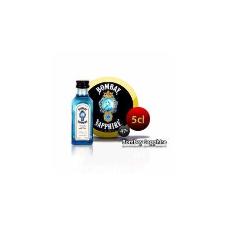 Botellita Miniatura Ginebra Bombay Sapphire 5 Cl