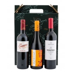 Estuche 3 Botellas de Vino